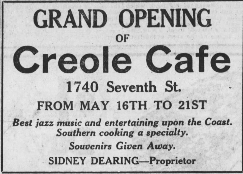 This image has an empty alt attribute; its file name is Dearing-Grand-Open-Creole-May-15-1921-1024x733.jpg